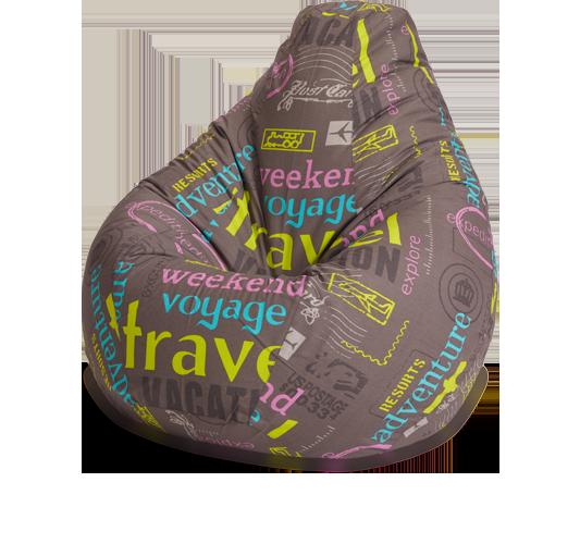 Кресло-мешок «Груша», XL, жаккард, Тревел
