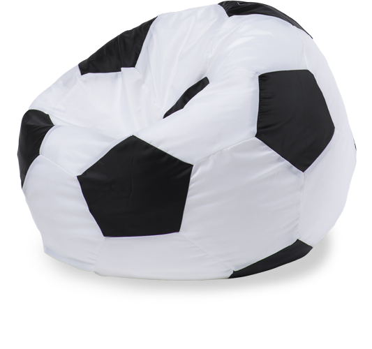 Кресло-мешок «Мяч», XL, оксфорд, Белый и черный
