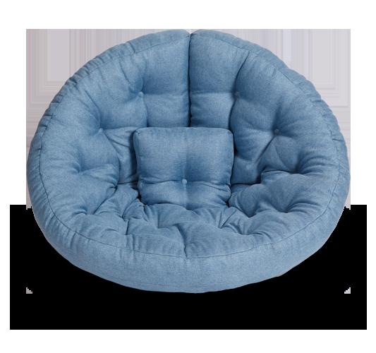 Кресло-матрас «Оустер» (Футон), жаккард, Небесно-голубой