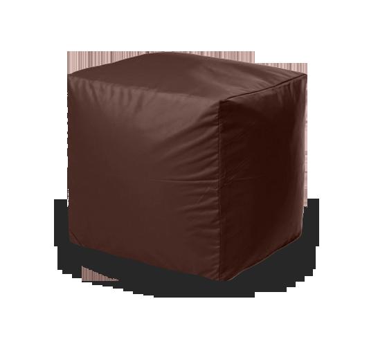 Пуфик «Куб», оксфорд, Коричневый